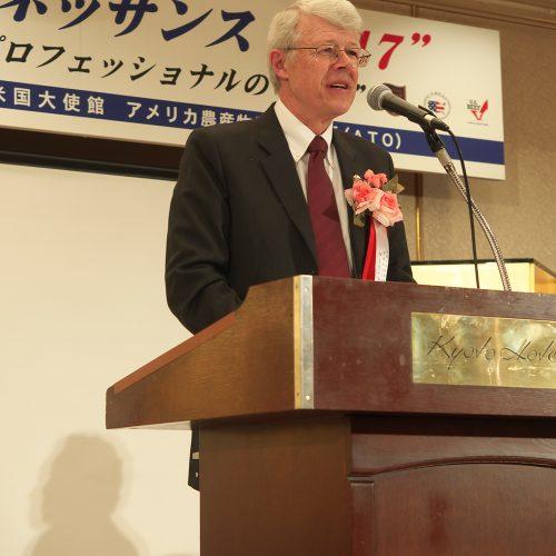 米国大使館・農務担当公使のゲーリ・マイヤー氏によるご祝辞