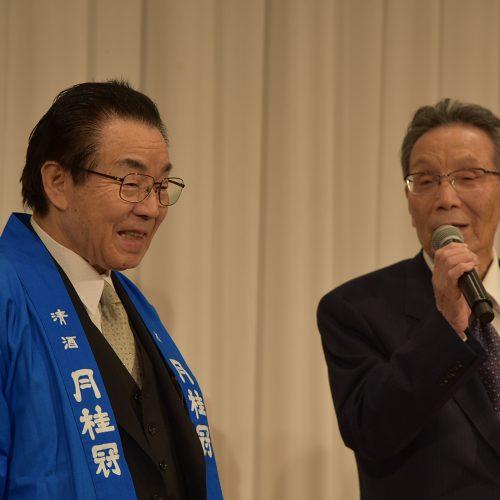 平安女学院大学学長の山岡景一郎氏(右)と弊社代表取締役社長 森村義明